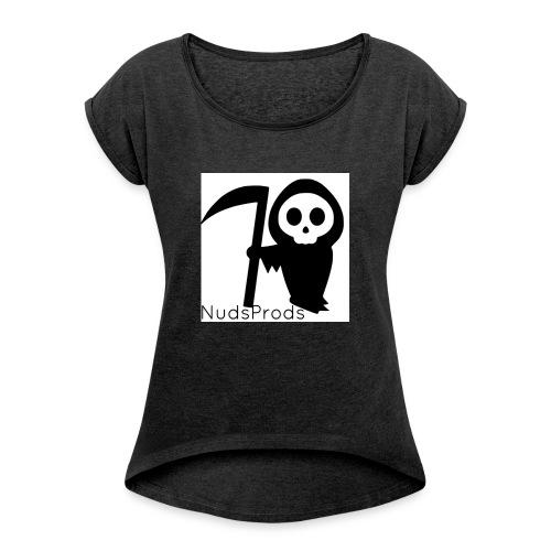 NudsProdsMerch - Vrouwen T-shirt met opgerolde mouwen