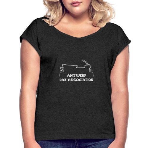 ADA DAX Logo Klein Wit - Vrouwen T-shirt met opgerolde mouwen