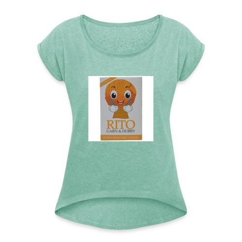 Rito Strik - Dame T-shirt med rulleærmer