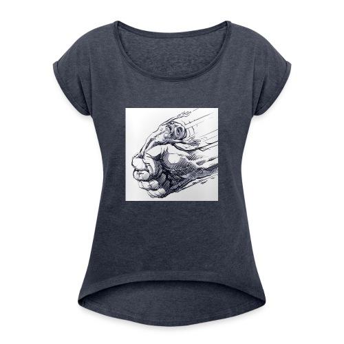 Under Pressure - Frauen T-Shirt mit gerollten Ärmeln