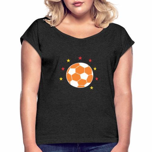 Ball Star - Frauen T-Shirt mit gerollten Ärmeln
