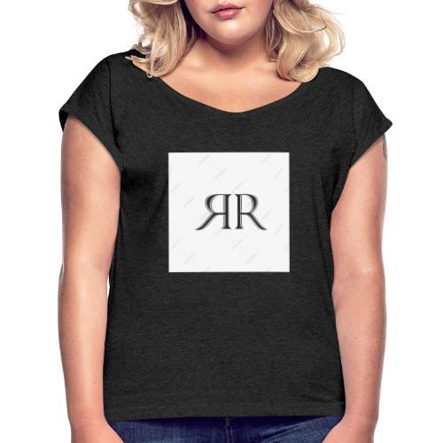 RR - Camiseta con manga enrollada mujer