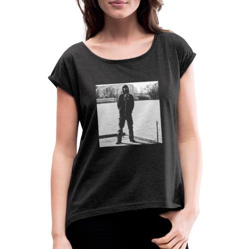 Gasmaske SW - Frauen T-Shirt mit gerollten Ärmeln
