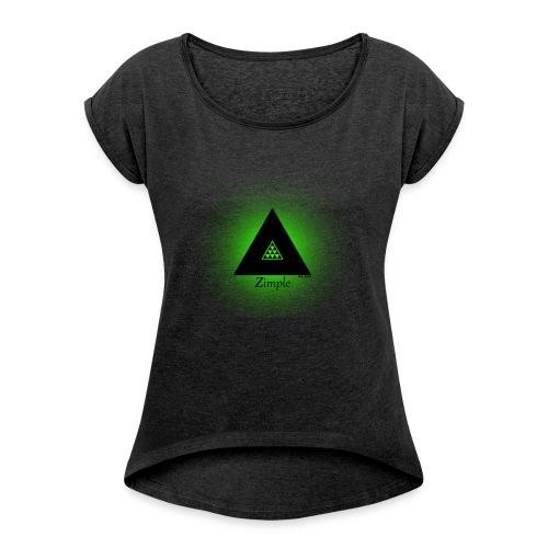 123123 - Dame T-shirt med rulleærmer