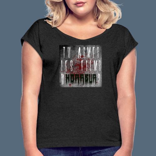 Talfho Logo Vintage Saison 1 - T-shirt à manches retroussées Femme