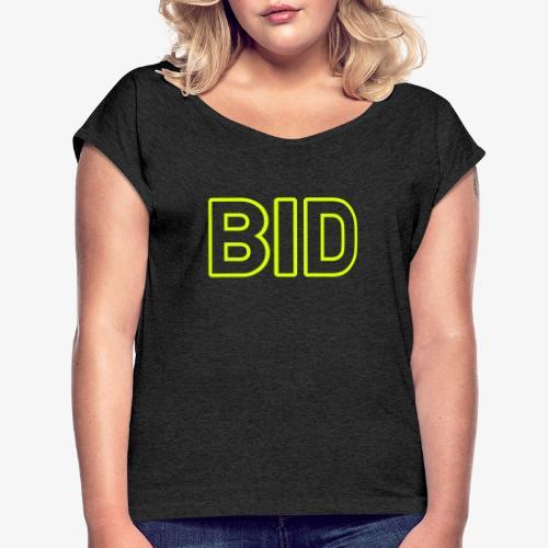BID 140% Vektor_Outline_W - Frauen T-Shirt mit gerollten Ärmeln