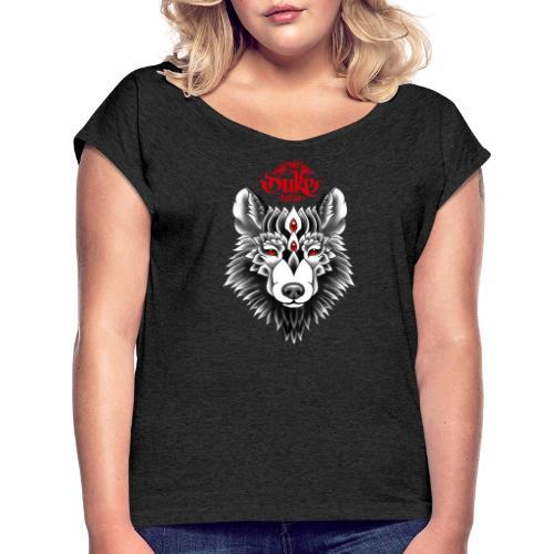 WOLF by Gideon - Vrouwen T-shirt met opgerolde mouwen