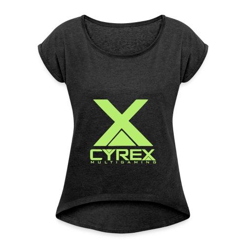 squareX - Frauen T-Shirt mit gerollten Ärmeln