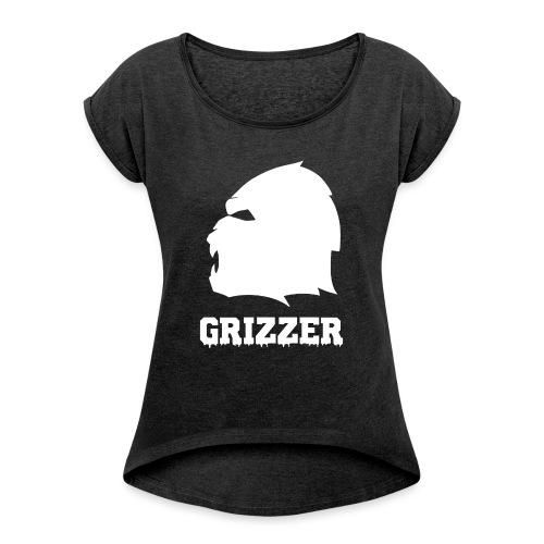 GRIZZER BLANC - T-shirt à manches retroussées Femme