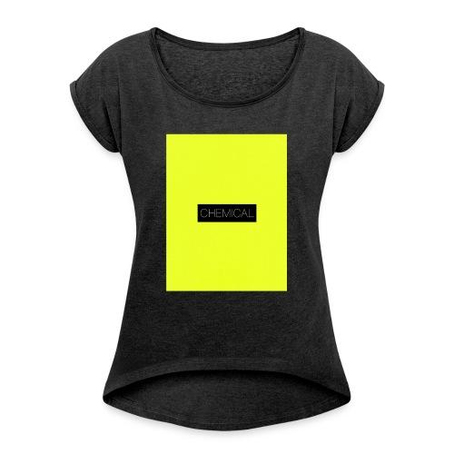 Yellow fluo - Maglietta da donna con risvolti