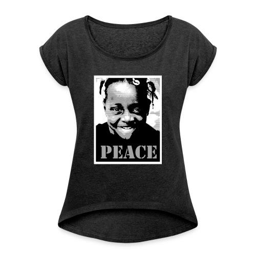 irony - T-shirt à manches retroussées Femme