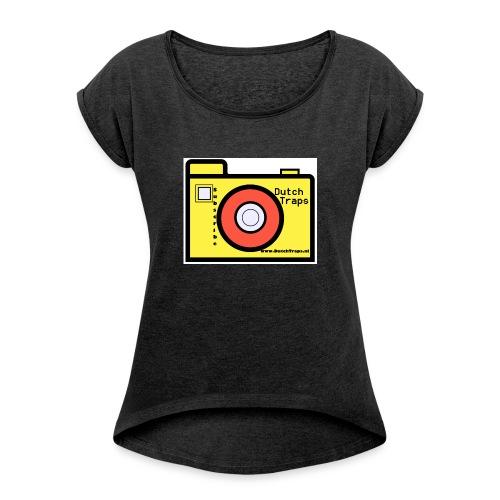 T-shirt DutchTraps - Vrouwen T-shirt met opgerolde mouwen