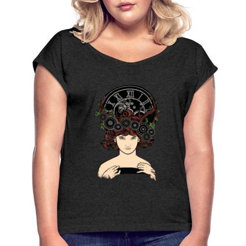 Time travel - T-shirt à manches retroussées Femme