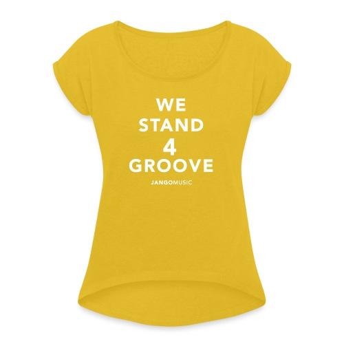 Tee Shirt à Manche Retroussée Femme - T-shirt à manches retroussées Femme