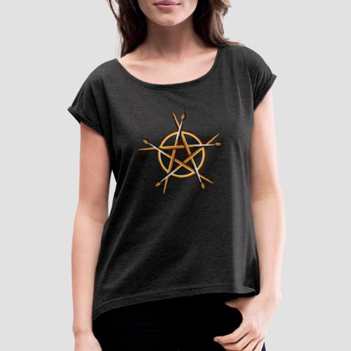 PAGAN PAINTER - Women's T-Shirt with rolled up sleeves