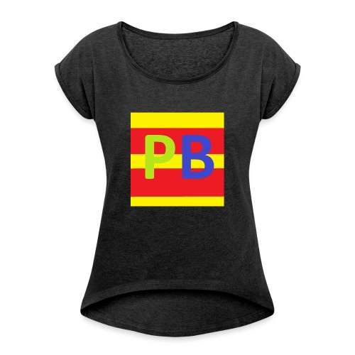 youtube pipobrothers tshirt kind - Vrouwen T-shirt met opgerolde mouwen
