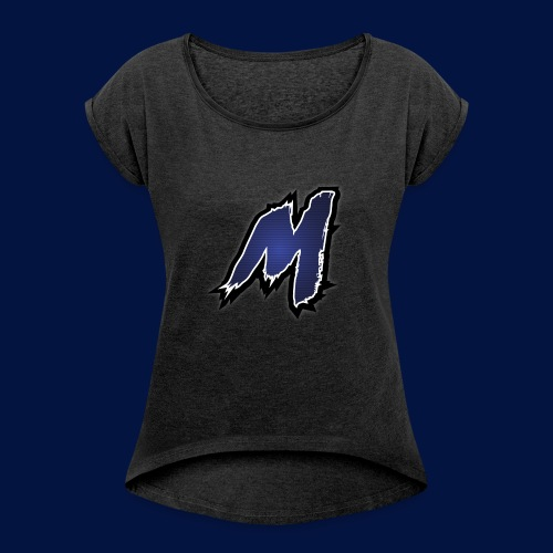 photo - Women's T-Shirt with rolled up sleeves