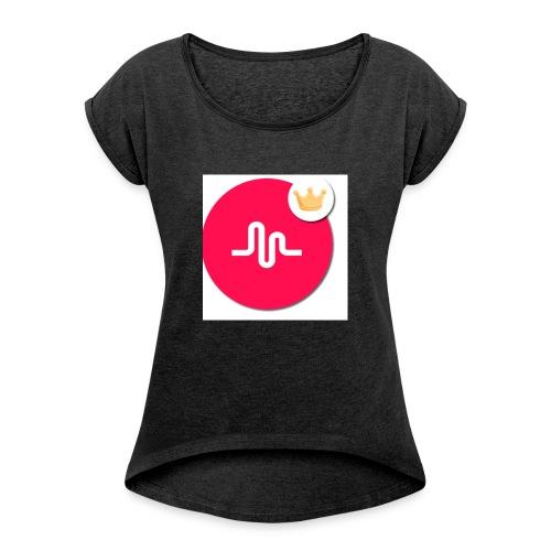 musical.ly - T-shirt à manches retroussées Femme
