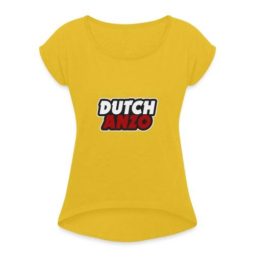 dutchanzo - Vrouwen T-shirt met opgerolde mouwen