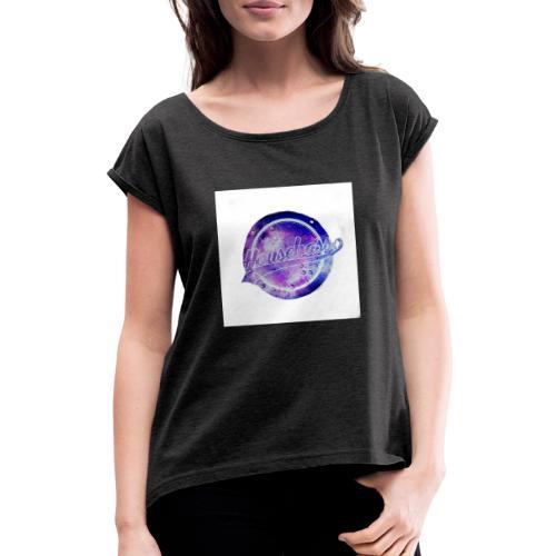 Housebass easy logo - T-shirt med upprullade ärmar dam