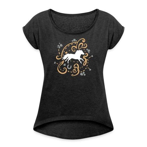 Shetty Ornamental - Frauen T-Shirt mit gerollten Ärmeln