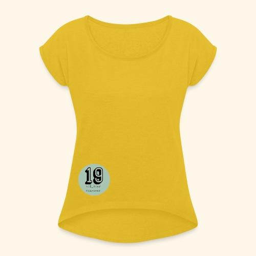 19 - T-shirt à manches retroussées Femme