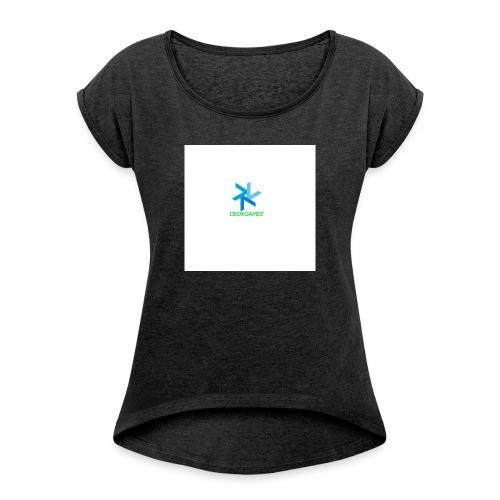 DeoxGames Camiseta - Camiseta con manga enrollada mujer