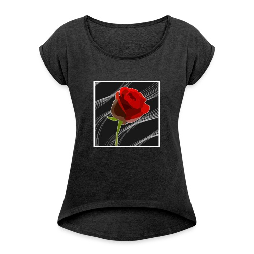 Petals - Women's T-Shirt with rolled up sleeves