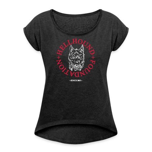 Logo 1K - Frauen T-Shirt mit gerollten Ärmeln