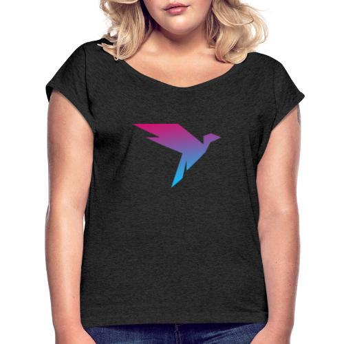 Humanisten Vogel - Frauen T-Shirt mit gerollten Ärmeln