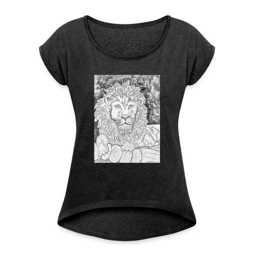 leone - Maglietta da donna con risvolti