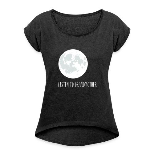 ltgm white 1 - Frauen T-Shirt mit gerollten Ärmeln