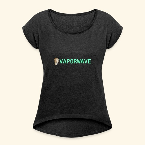 Roman Statue Vaporwave - T-shirt à manches retroussées Femme