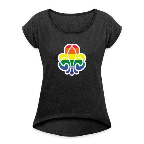 Regnbuespejder jakker og t-shirts mv - Dame T-shirt med rulleærmer
