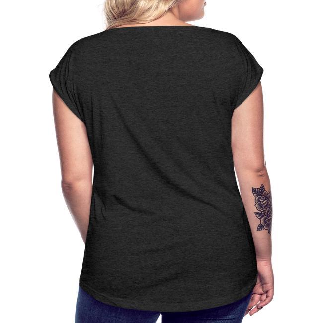 Vorschau: Hots di oda kriagts di - Frauen T-Shirt mit gerollten Ärmeln