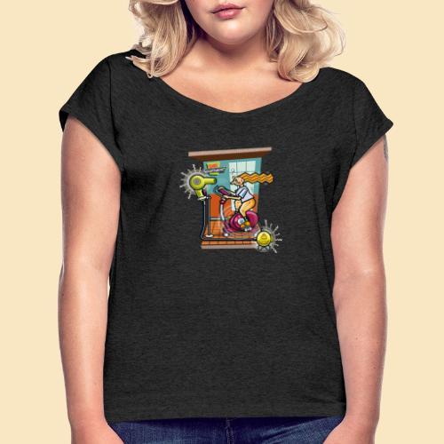 Studio Kraftwerk 011 - Frauen T-Shirt mit gerollten Ärmeln