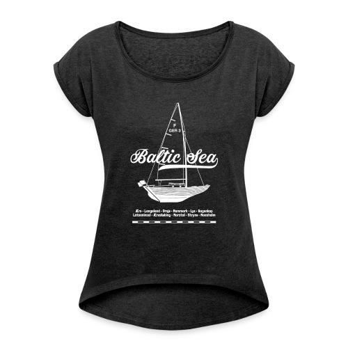 Baltic Sea Folkeboot - Frauen T-Shirt mit gerollten Ärmeln