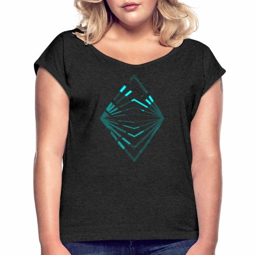 The eye - Women's T-Shirt with rolled up sleeves