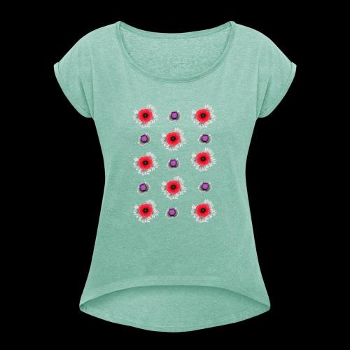 Kangaskassi - Naisten T-paita, jossa rullatut hihat