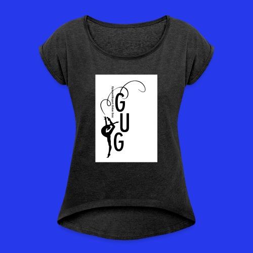 GUG logo - Frauen T-Shirt mit gerollten Ärmeln