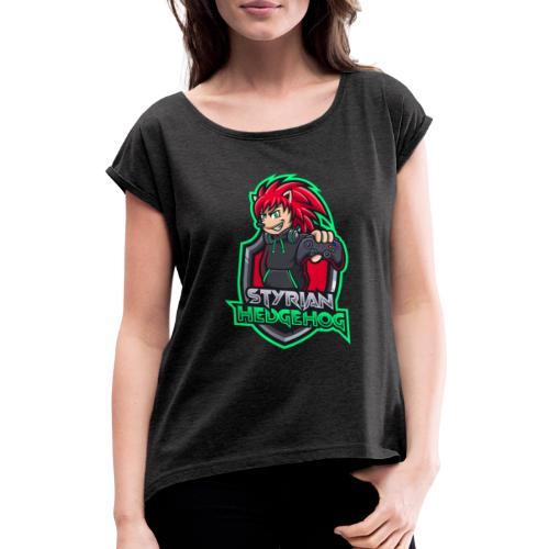 styrian hedgehog Logo - Frauen T-Shirt mit gerollten Ärmeln