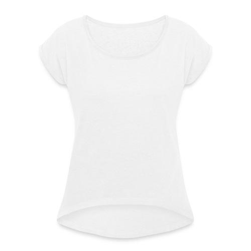 2 negro esp w png - Camiseta con manga enrollada mujer