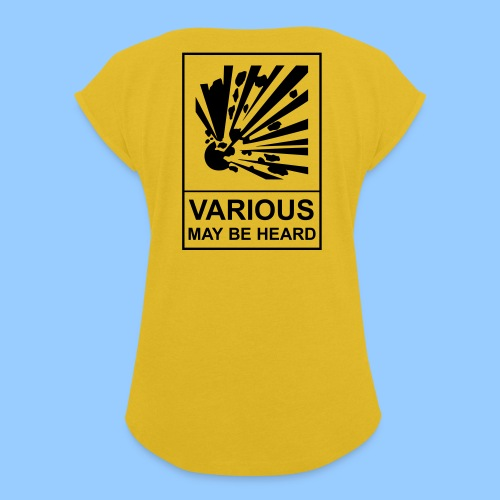 VariousExplosions (1 colour) - Women's T-Shirt with rolled up sleeves