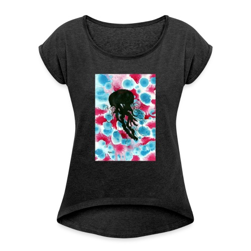 jellyfish - Women's T-Shirt with rolled up sleeves