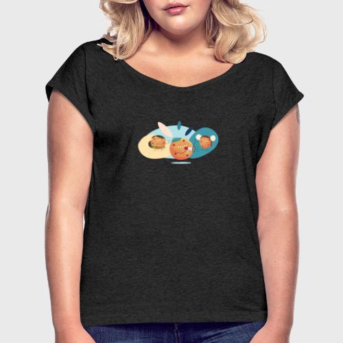 Axeptio - T-shirt à manches retroussées Femme