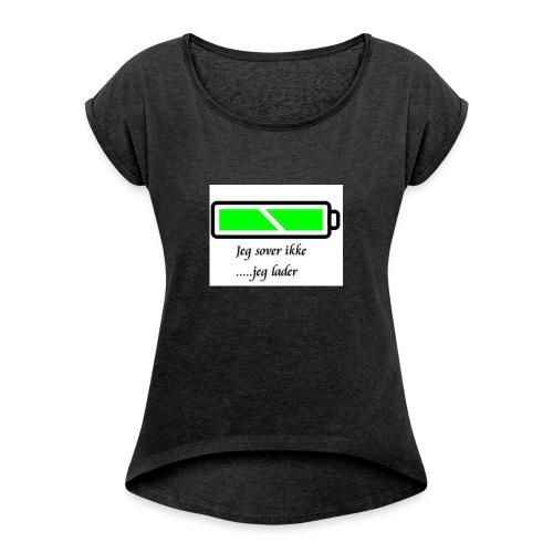 lader_2 - T-skjorte med rulleermer for kvinner