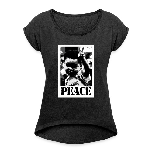 Peace Bro - T-shirt à manches retroussées Femme