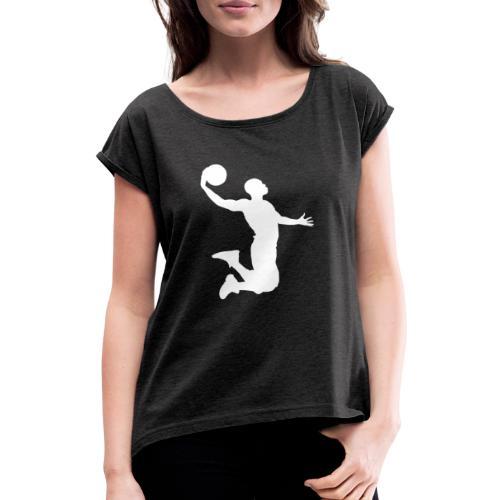 White energetic dunk - T-shirt à manches retroussées Femme