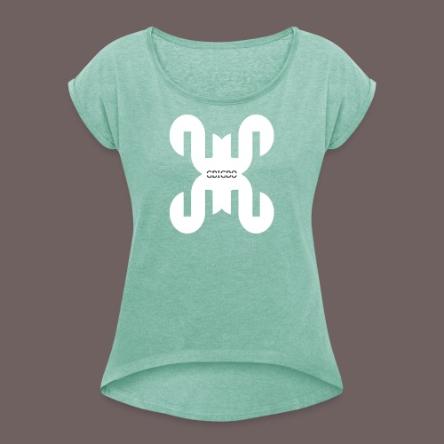 GBIGBO zjebeezjeboo - Rock - Tulip Rock - T-shirt à manches retroussées Femme