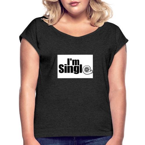 63A93238 6BF0 4B4A AAD3 EF91C2868FD0 - Frauen T-Shirt mit gerollten Ärmeln